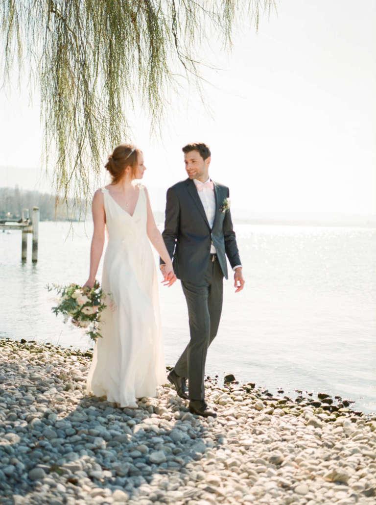 les mariés au bord du lac léman