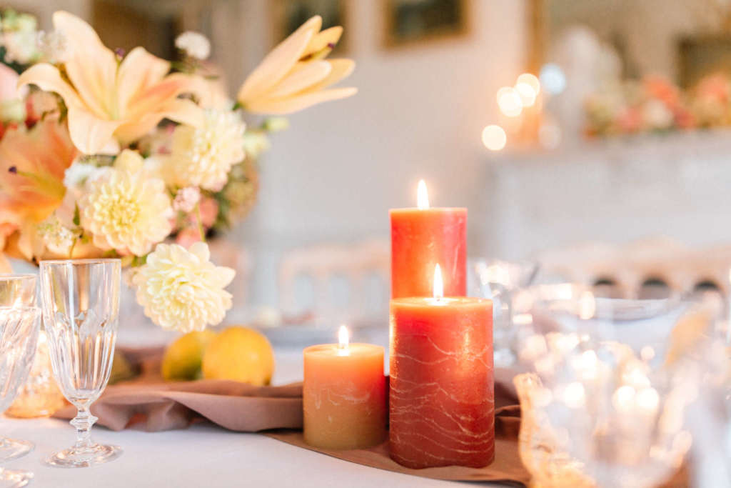 wedding candles for autumn wedding