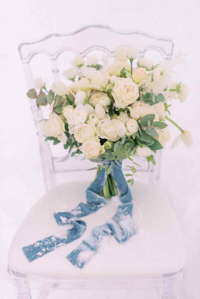 bouquet mariage à la neige, bouquet mariage hiver